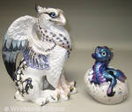 Griffin and hatching dragon