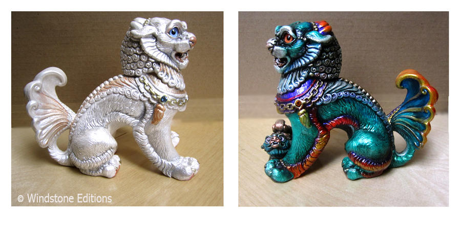 Female foo dogs by Reptangle