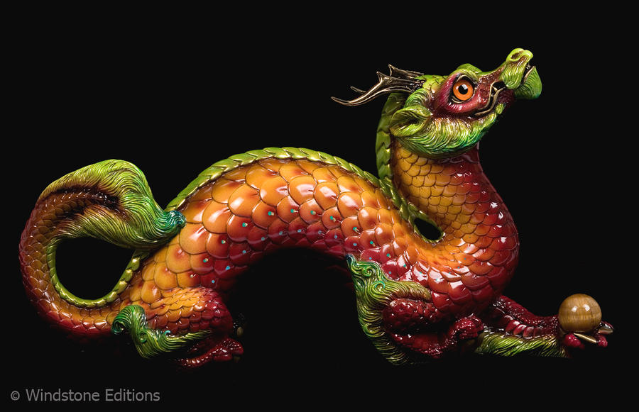 Pumpkin autumn leaf Oriental dragon