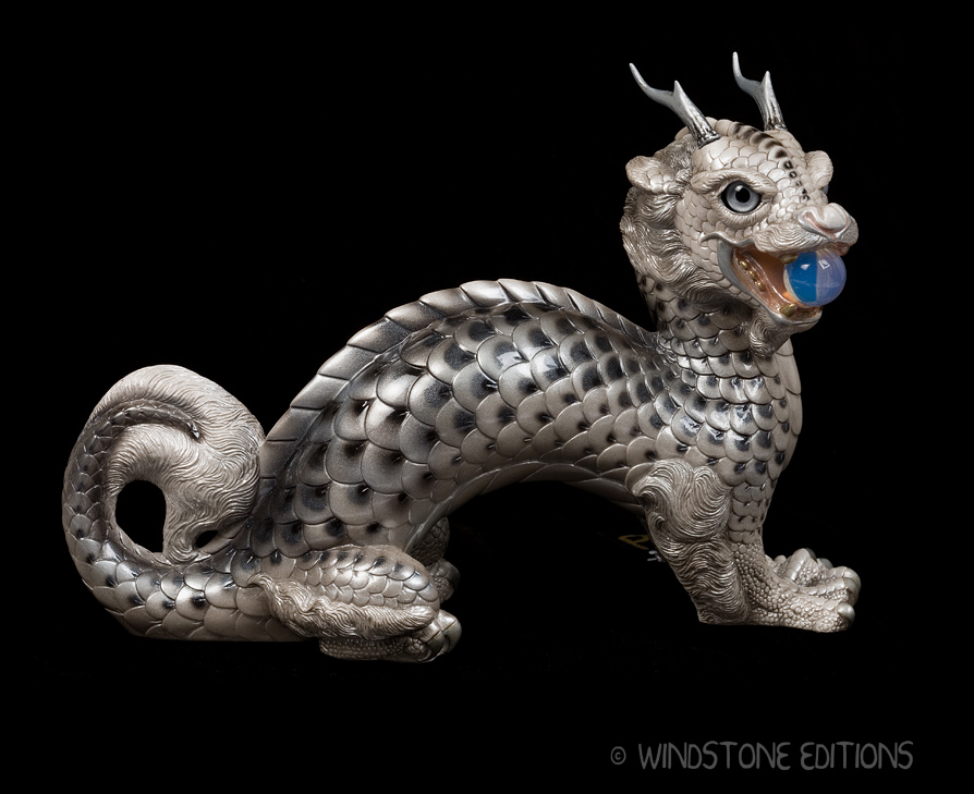 Silver Koi Moon Dragon by Reptangle