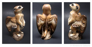 Winged meerkat  sculpture