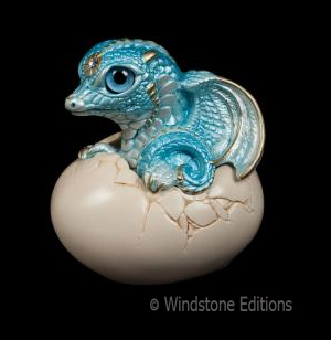 Aquamarine Hatching Dragon V2 by Reptangle