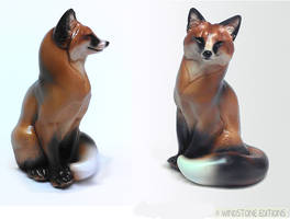 Sitting Red Fox by Reptangle