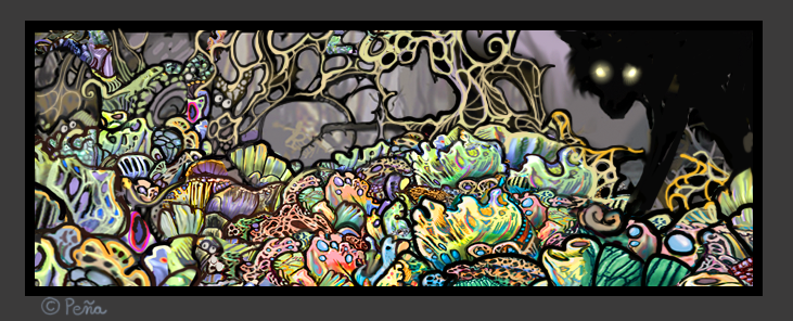Demon Garden Art by Reptangle