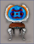 Peacock spider chair