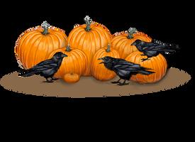 Pumpkins And Ravens