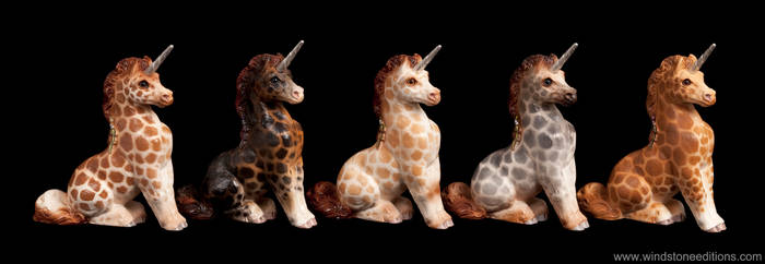 Ponycorns  painted like giraffes