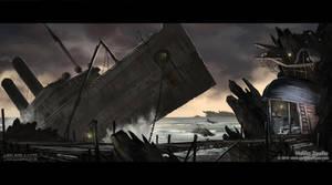 Ship graveyard by Undercurrent-32