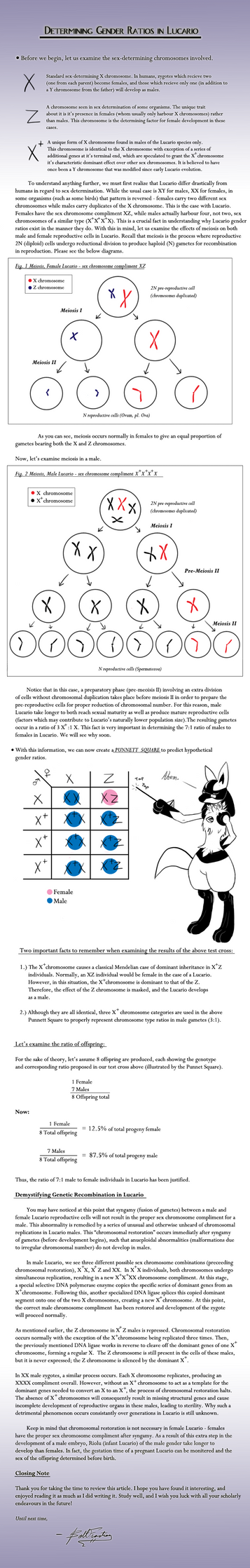 On Gender Ratios in Lucario by BoltFraction