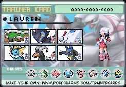 Pokemon Platinum Trainer card by Cocoafox895