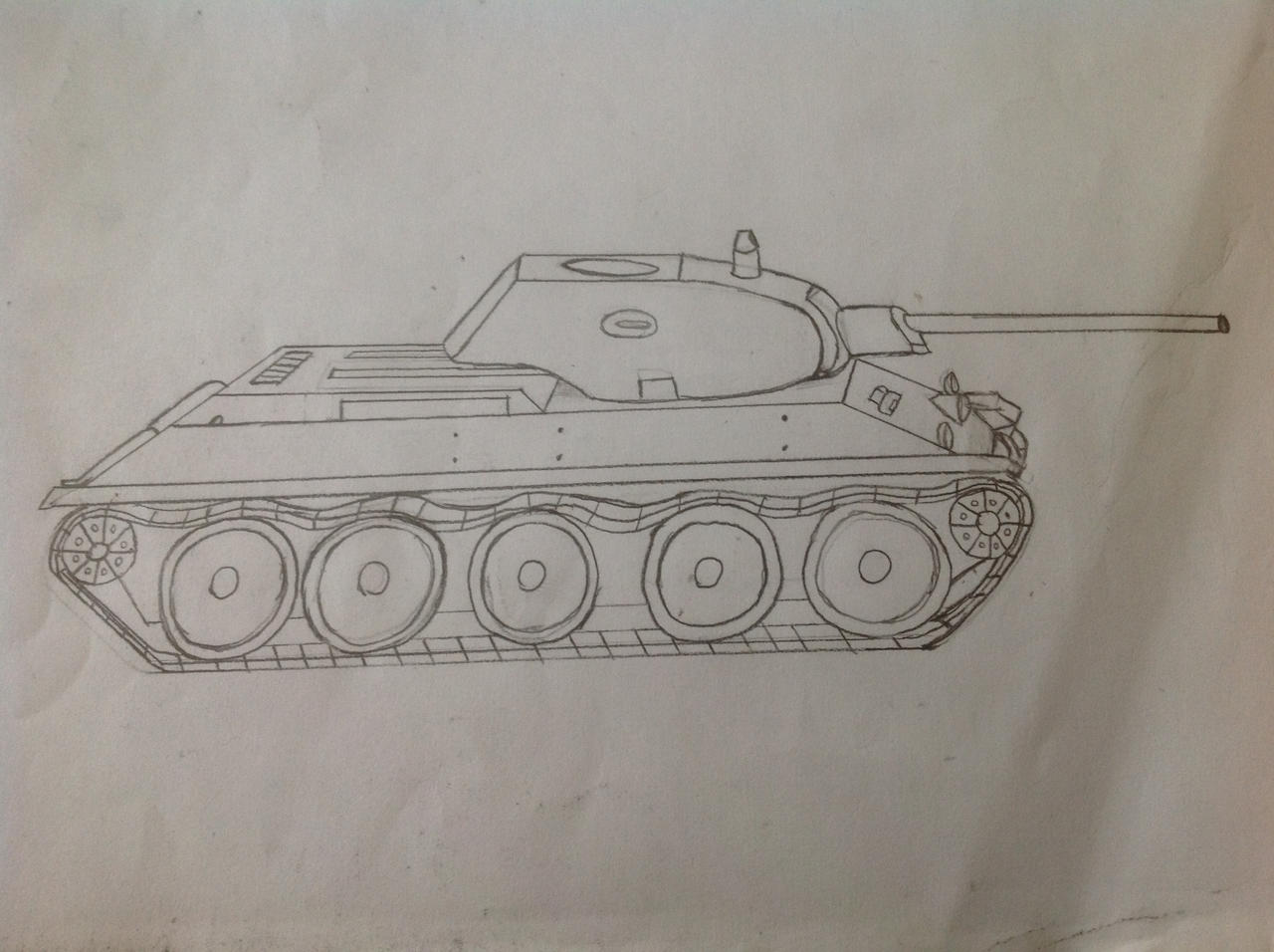 T-34  sketch by TheTigerAce44