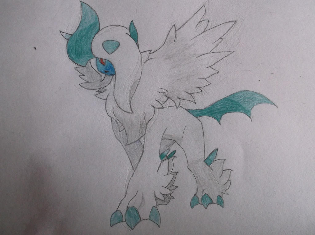 Mega Absol  (sketch) by TheTigerAce44