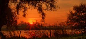 burning sunrise