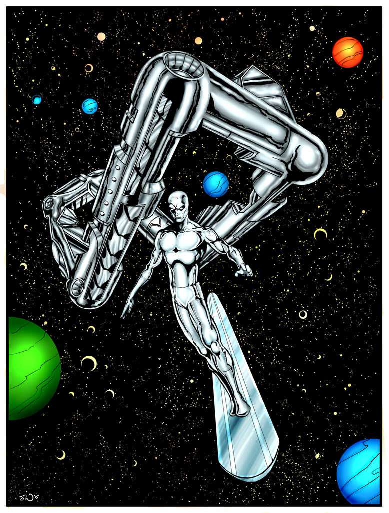Silver Surfer coloured by judsonwilkerson