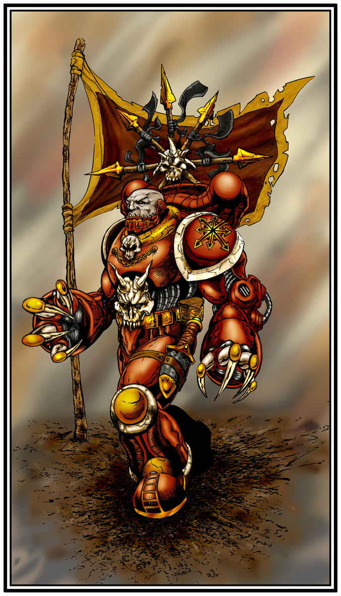 Chaos Marine coloured by judsonwilkerson