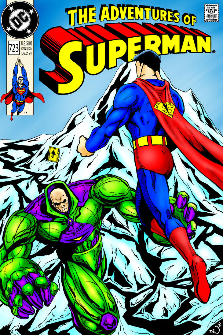 Adventures of Superman mock cover colored by judsonwilkerson