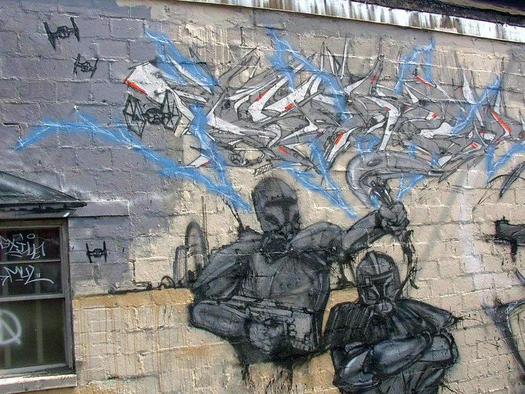 star wars mural14 by esay