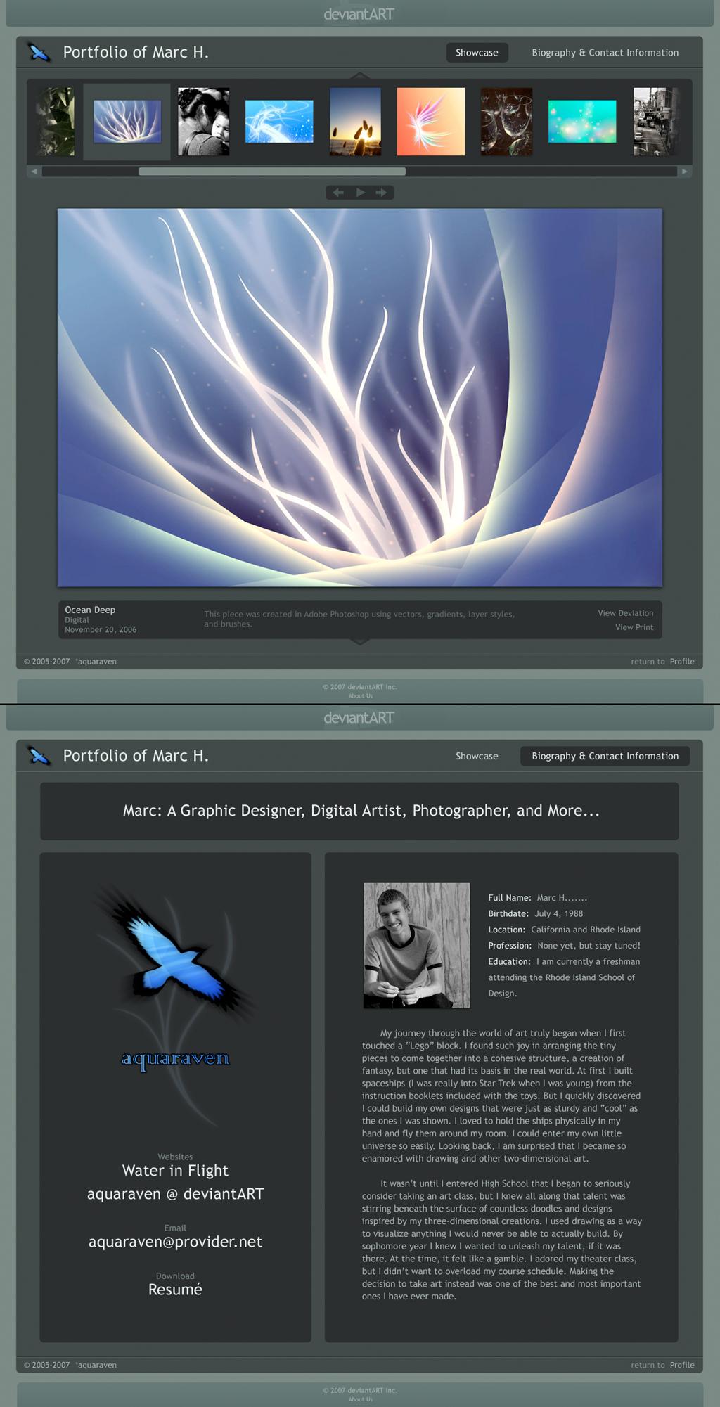 Aquaraven's Portfolio Design by aquaraven