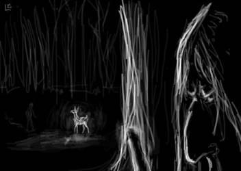 HP7: Snape and his patronus by Kleolanda