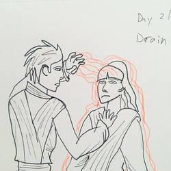 Inktober Day 21 (Force) Drain by Hawkeye553