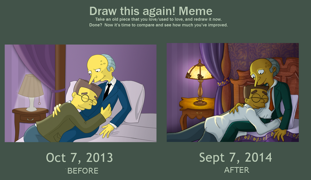 Draw This Again: Burns / Smithers by FruitBatMan