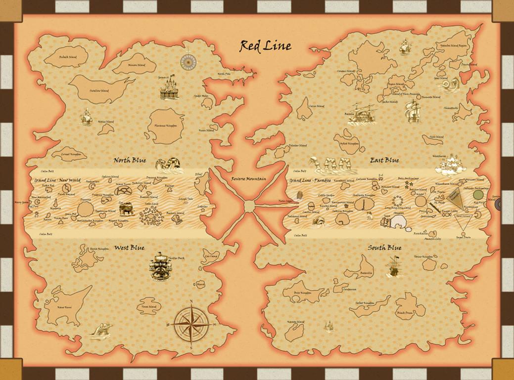 One Piece World Map One Piece World Map by Sharpsider on DeviantArt