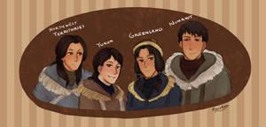 HetaCANADA: Inuit Family by Quu-Ryu