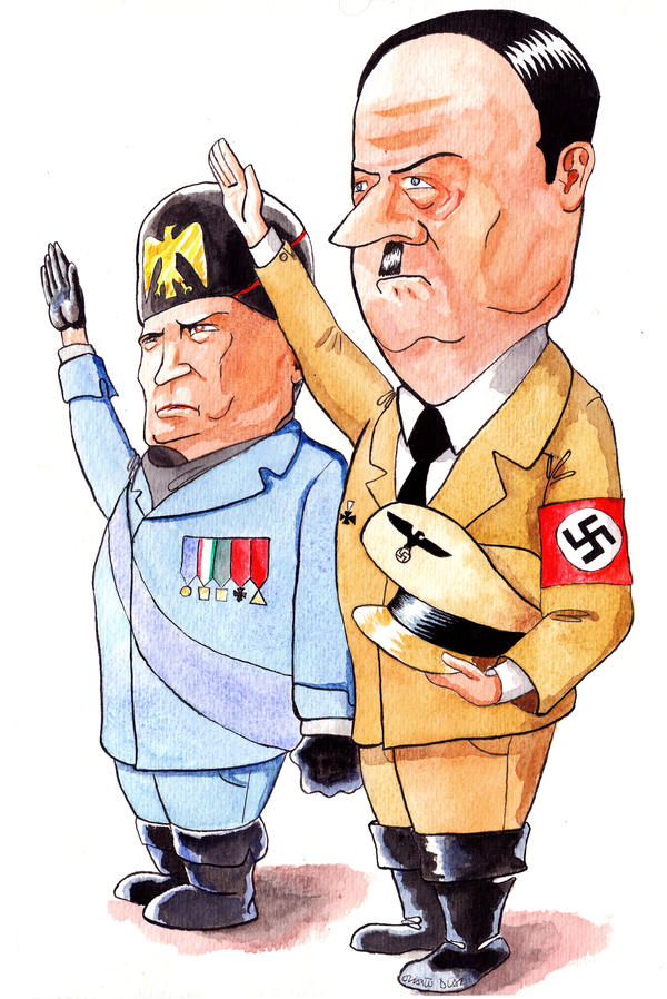 hitler and mussolini propaganda comparisons Compare and contrast the foreign policies of hitler and mussolini between 1933 and 1943  exhortations and propaganda  for full and balanced comparisons.