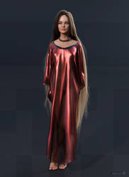 diNorian - Grace Red Kaftan (dA) by diNorian