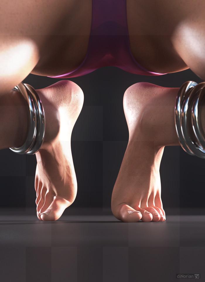 diNorian Test - Kneeling There Feet (dA)