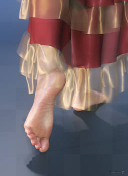 diNorian Test - Golden Dance Feet (dA)