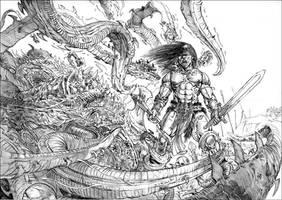 Conan and the Maw of Irushu. by tariq12