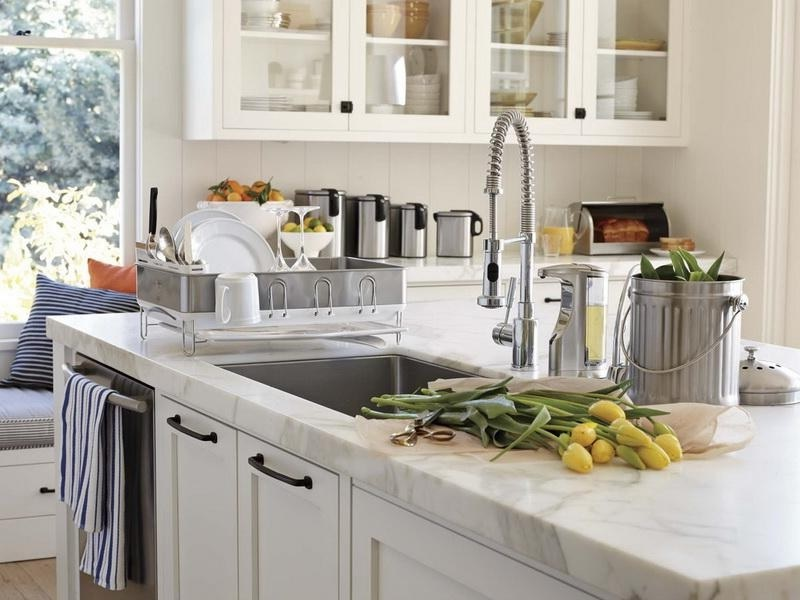 Stylish White Concrete Countertop in Your Kitchen by Larry-Scot