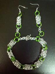 Deb's braceletl and earring set