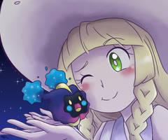 Lillie and Nebby by mizukijin