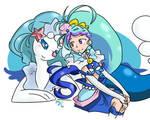 Cure Mermaid and Primarina