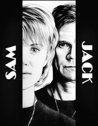 Stargate SG-1 - Jack ONeill and Samantha Carter by Larkistin89