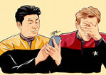 Tom Paris and Harry Kim - Star Trek Voyager