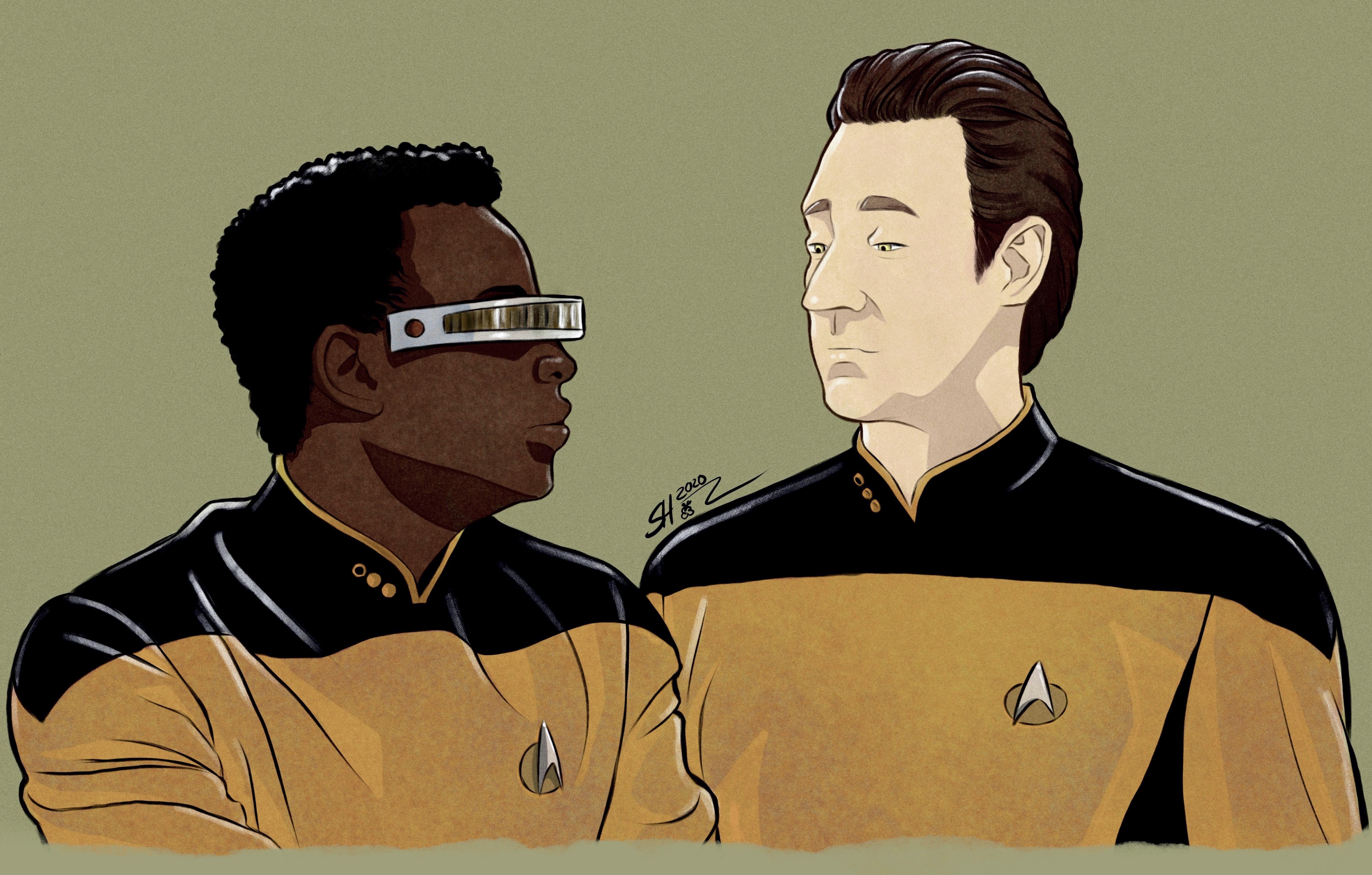 Data and Geordi - Star Trek TNG