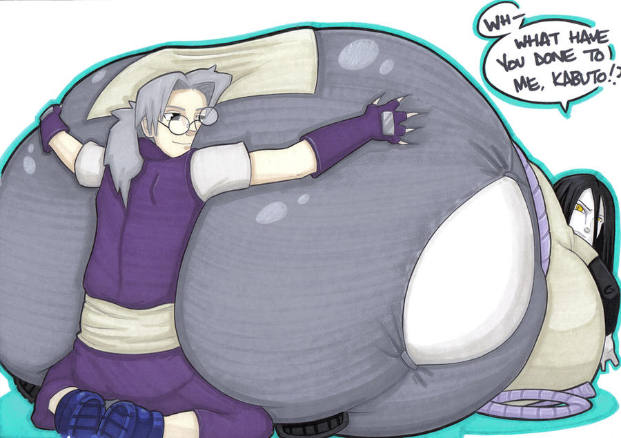 kabuto likes big butts by prisonsuit-rabbitman