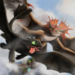 How To Train Your Dragon Toothless and Cloudjumper