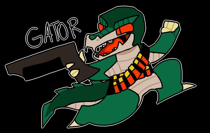 nuclear throne oc! gator! by pokeytard