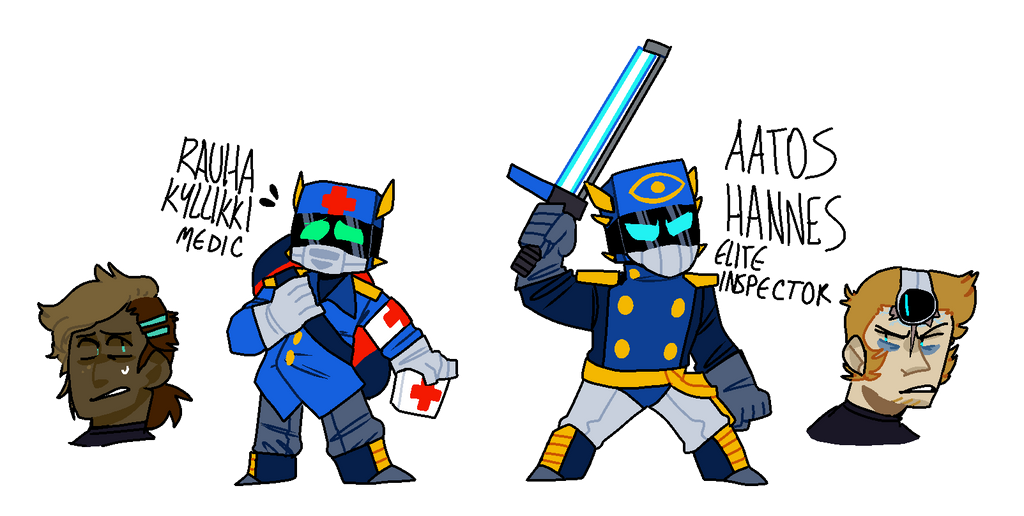 rauha the medic and aatos the elite inspector! by pokeytard