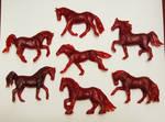 Meet the herd!  - wax horse sculptures