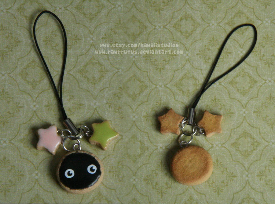 Soot Sprite Cookie Charm- Spirited Away by RawrRufus
