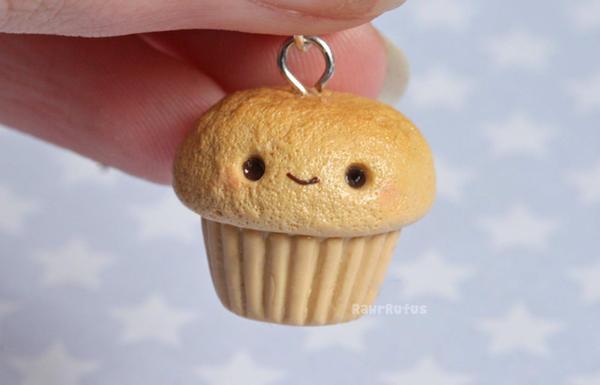 Kawaii Cupcake Charm by RawrRufus