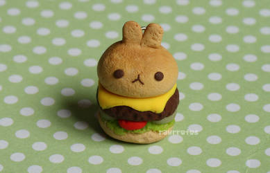 Bunny Burger Clay Charm