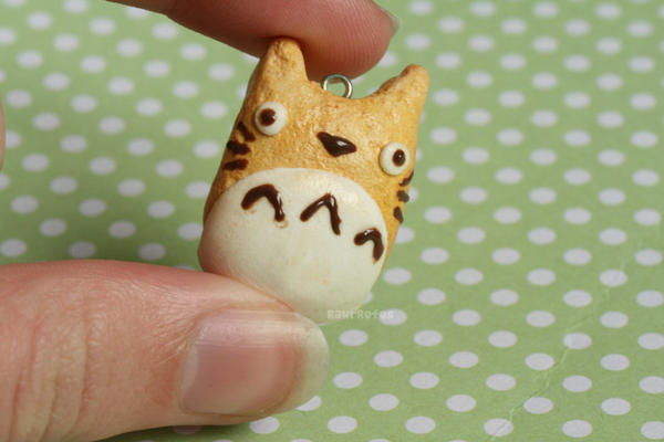 Totoro Cookie Clay Charm by RawrRufus