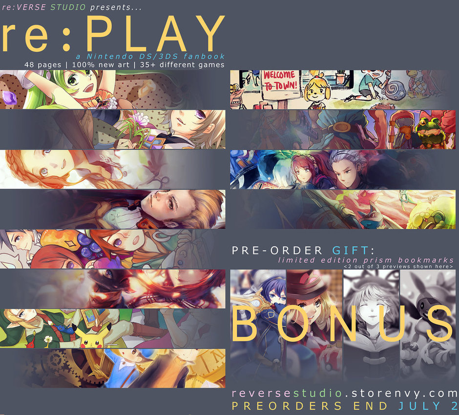 [PREORDER OPEN] re:PLAY - Nintendo DS/3DS Fanbook! by Illycia