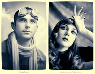 Aviator and a girl by p-p